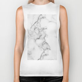 Luxury white marble Biker Tank