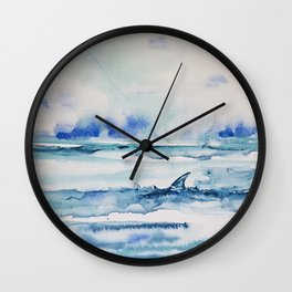 Gliding in shallow water Wall Clock