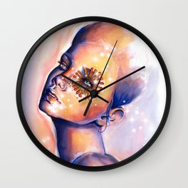 Blue Swan Wall Clock