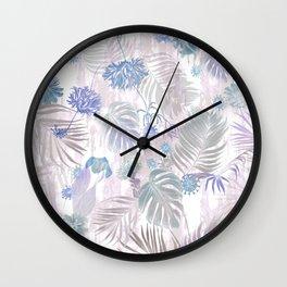 Tropical Iridescence- Pastels  Wall Clock