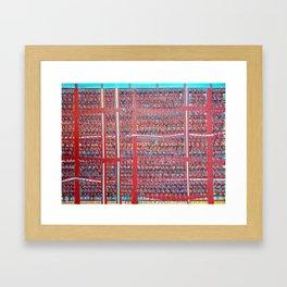 Gran hinchada roja. Framed Art Print