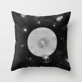Gilded (B&W) Throw Pillow