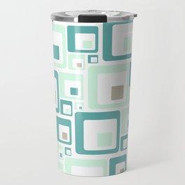 Retro Squares Mid Century Modern Background Travel Mug