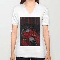 akira V-neck T-shirts featuring AKIRA by Zorio
