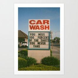 Car Wash  Art Print