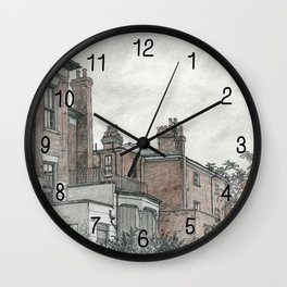 Backyard sketch Wall Clock