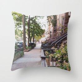 Walking through Chicago Throw Pillow