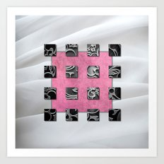 SQUARE AMBIENCE - White Satin Art Print