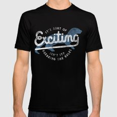 Exciting Black MEDIUM Mens Fitted Tee