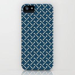 Its Going Tibia Okay - Dem Bones in Blue iPhone Case