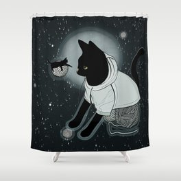 The Black Cat Tale Shower Curtain