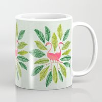 general Mugs featuring Flamingos by Cat Coquillette