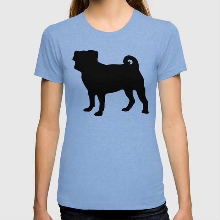 Simple Pug Silhouette T-shirt