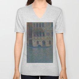 Claude Monet Venice, Palazzo Dario Unisex V-Neck