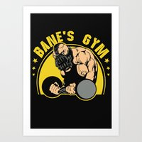 gym Art Prints featuring B Gym by Buby87