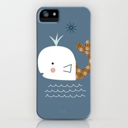 white whale kids iPhone Case