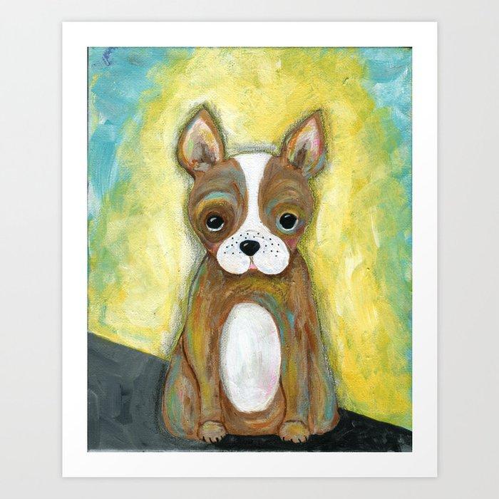Puppy Painting, Children\'s Room Decor, Kid\'s Room, Wall Art, Dog Painting, Animal Art Art Print by jilllambert