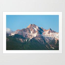 Cascade Mountain Clouds Art Print