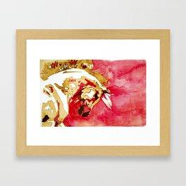 Red Dancer Framed Art Print