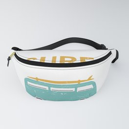 Live To Surf Camper Surfing Surfer Surfboard Beach Life Fanny Pack