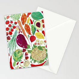 Warmy Vegetables Stationery Cards