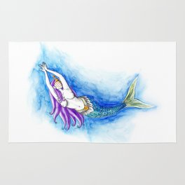 Iemanjá | Sereia | Mermaid Rug