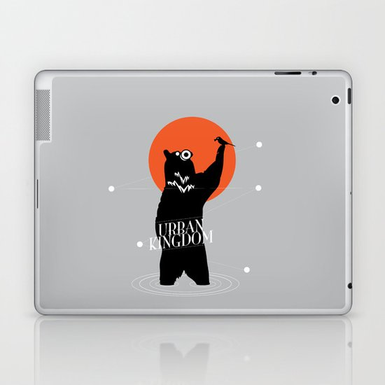 Big Bear and the Bird- Wearing Gas mask Laptop & iPad Skin