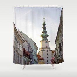 Bratislava Tower Shower Curtain