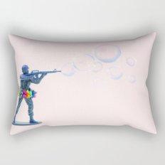 Shoot bubbles, not bullets Rectangular Pillow