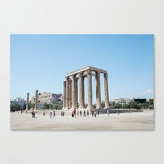 The temples of Athens Canvas Print