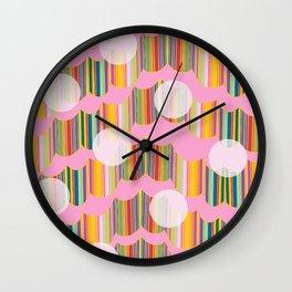 New Wavey Pink Polka Wall Clock