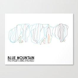 Blue Mountain, Ontario, Canada - Minimalist Trail Art Canvas Print