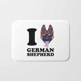 I Love German Shepherd modern v1 Bath Mat