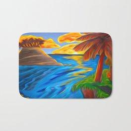 Palm Island Sunrise Bath Mat