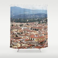 florence Shower Curtains featuring Florence by Anya Kubilus