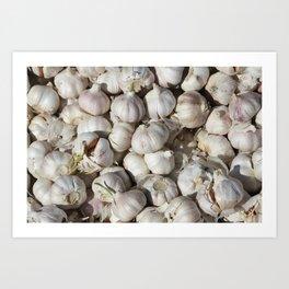 Garlic food pattern Art Print