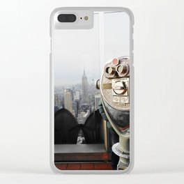 nyc viewfinder Clear iPhone Case