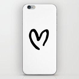 Black and White Heart iPhone Skin
