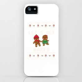 Let's Get Baked Christmas Day Holiday Xmas Baking Gift iPhone Case