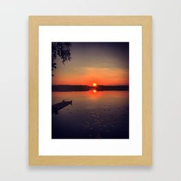 Summer morning Framed Art Print