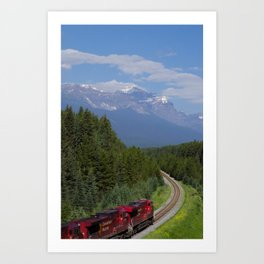 Canadian Pacific Through The Rockies Art Print