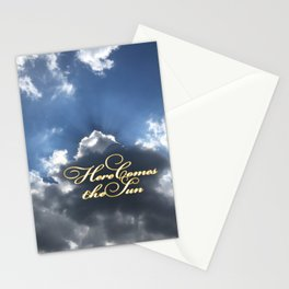 Sun Rising Beyond a Cloud Stationery Cards