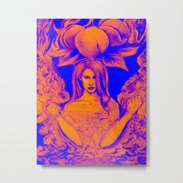 Lana's Peaches Gold Metal Print