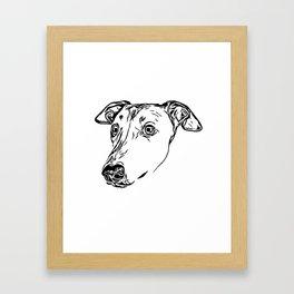 Greyhound Line Art Framed Art Print