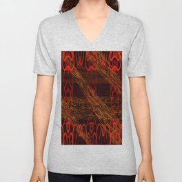 Autumn Tribal II Unisex V-Neck