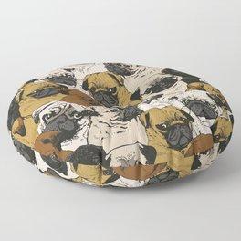 Social Pugs Floor Pillow