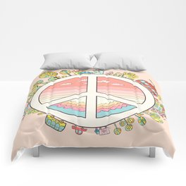 peaceful bright Pacific planet Comforters