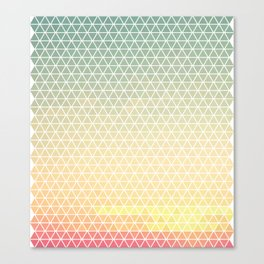 Sunset Triangles Canvas Print