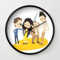 seinfeld Wall Clocks featuring My Seinfeld Fantasy by Vera van Groos