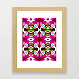 Pink Fusion - Painting Within The Lines Collection Framed Art Print